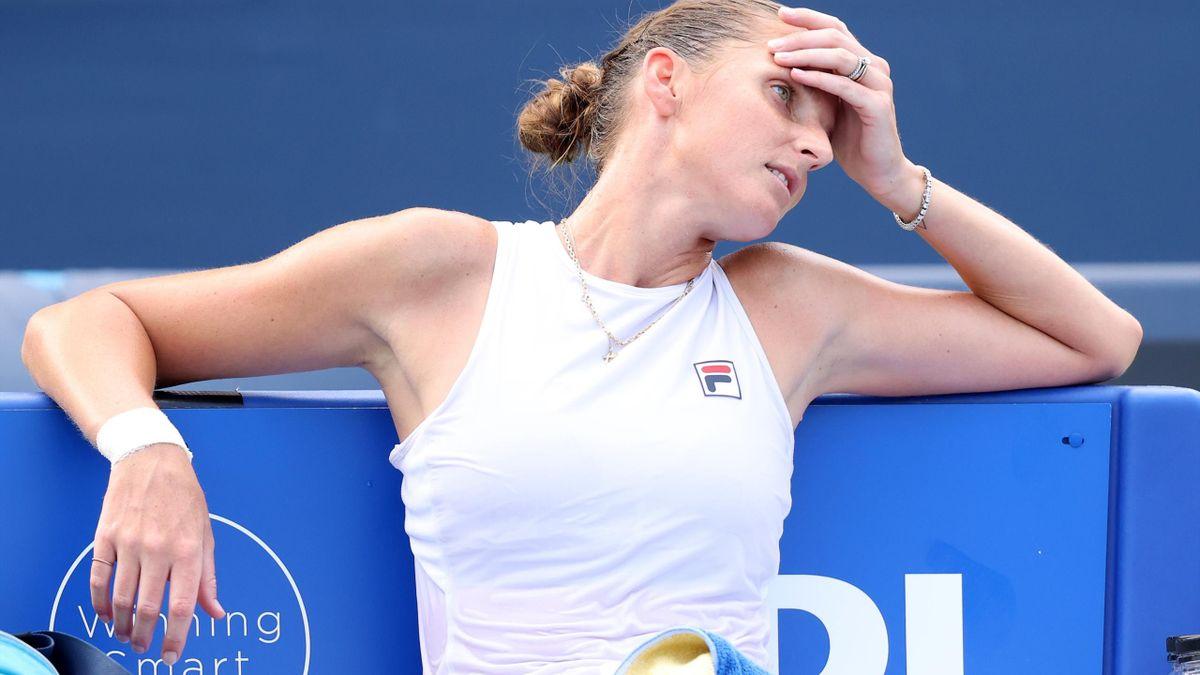 Karolina Pliskova ist bei den US Open ohne ihren Trainer