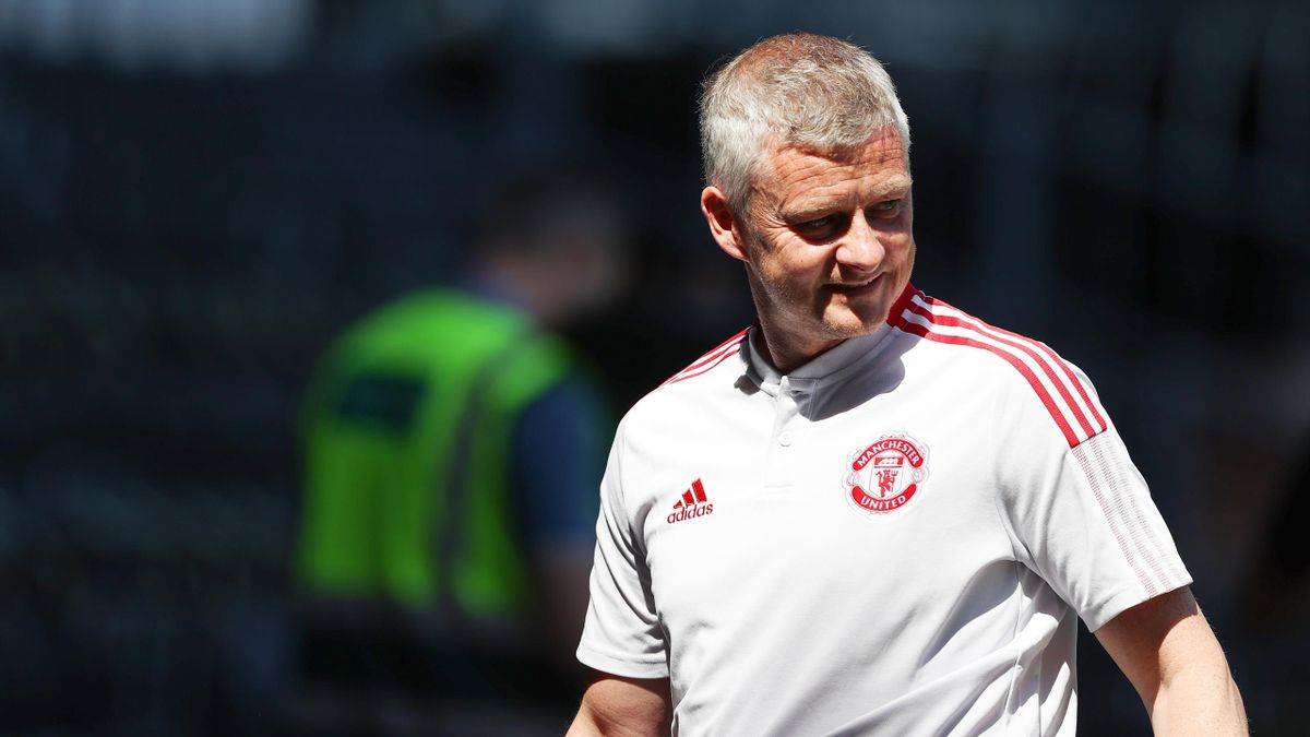Ole Gunnar Solskjaer the head coach / manager of Manchester United during a pre-season friendly between Derby County and Manchester United at Pride Park