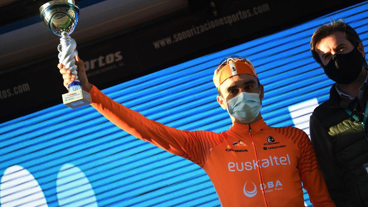 Luis Angel Mate (Euskaltel) lors de la classique d'Alméria en 2021.
