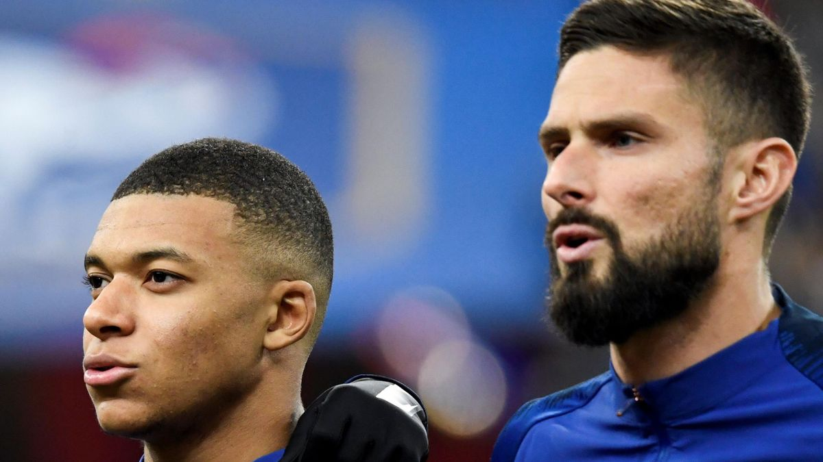 France team-mates Kylian Mbappe and Olivier Giroud have reportedly fallen out