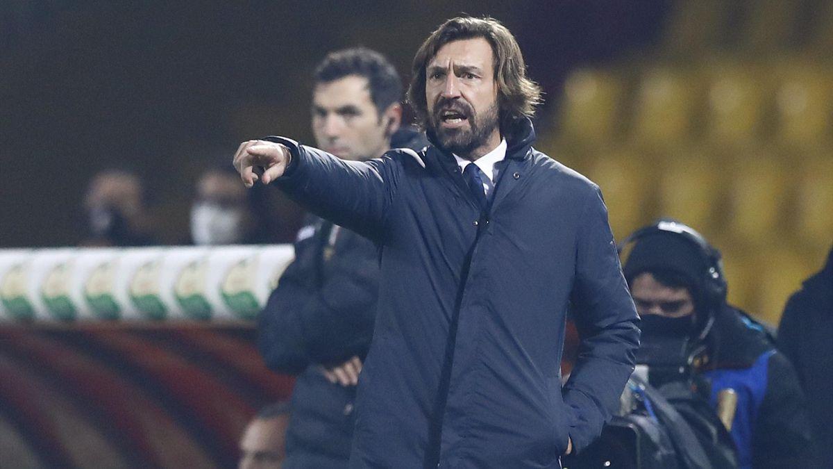 Andrea Pirlo durante Benevento Juventus