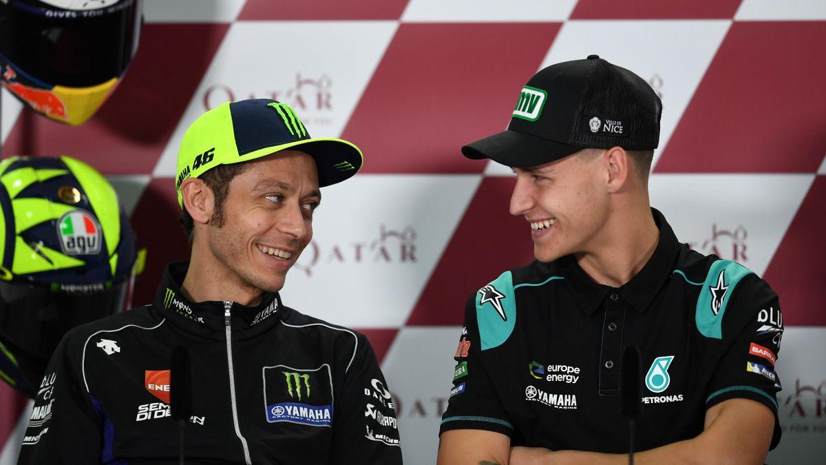Valentino Rossi e Fabio Quartararo, Getty Images