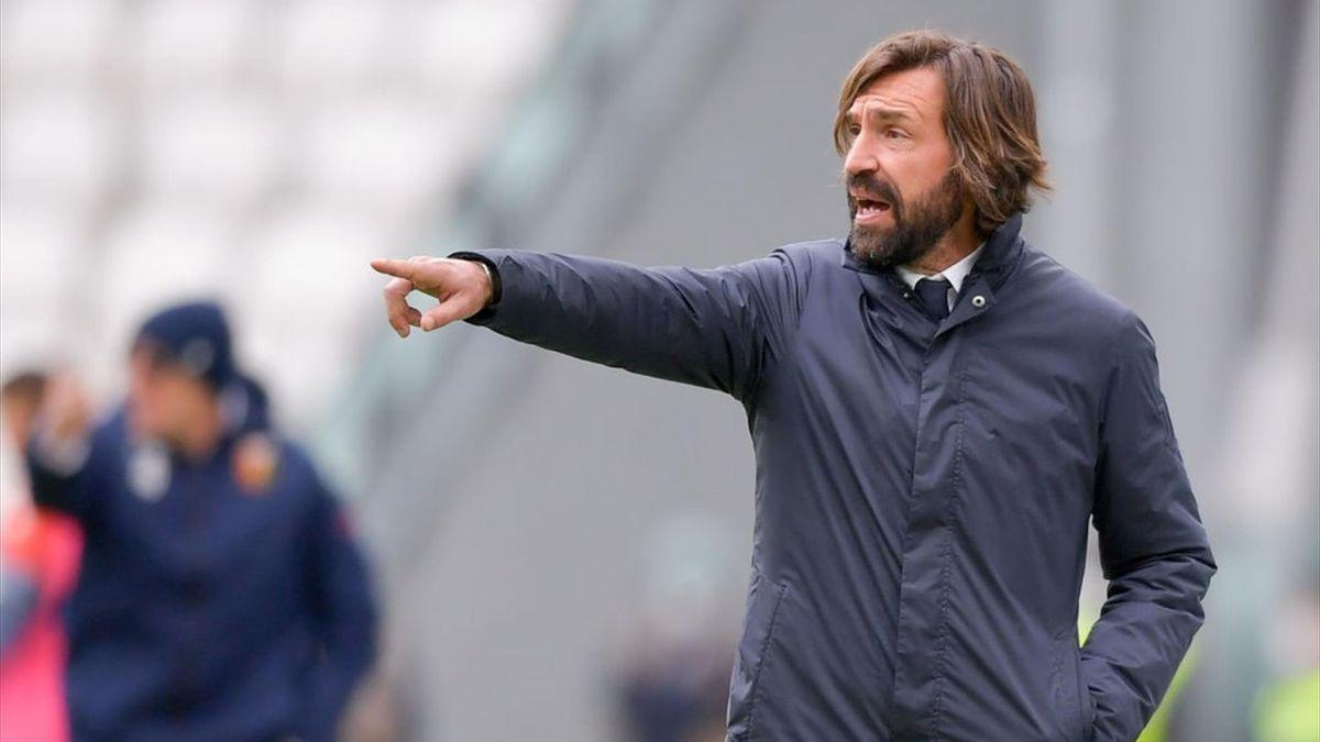 Andrea Pirlo sulla panchina della Juventus - Stagione 2020-21