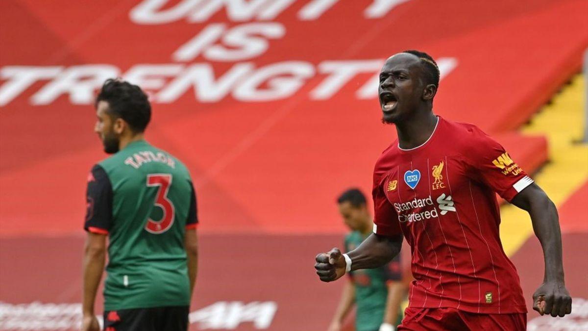 Sadio Mané face à Aston Villa