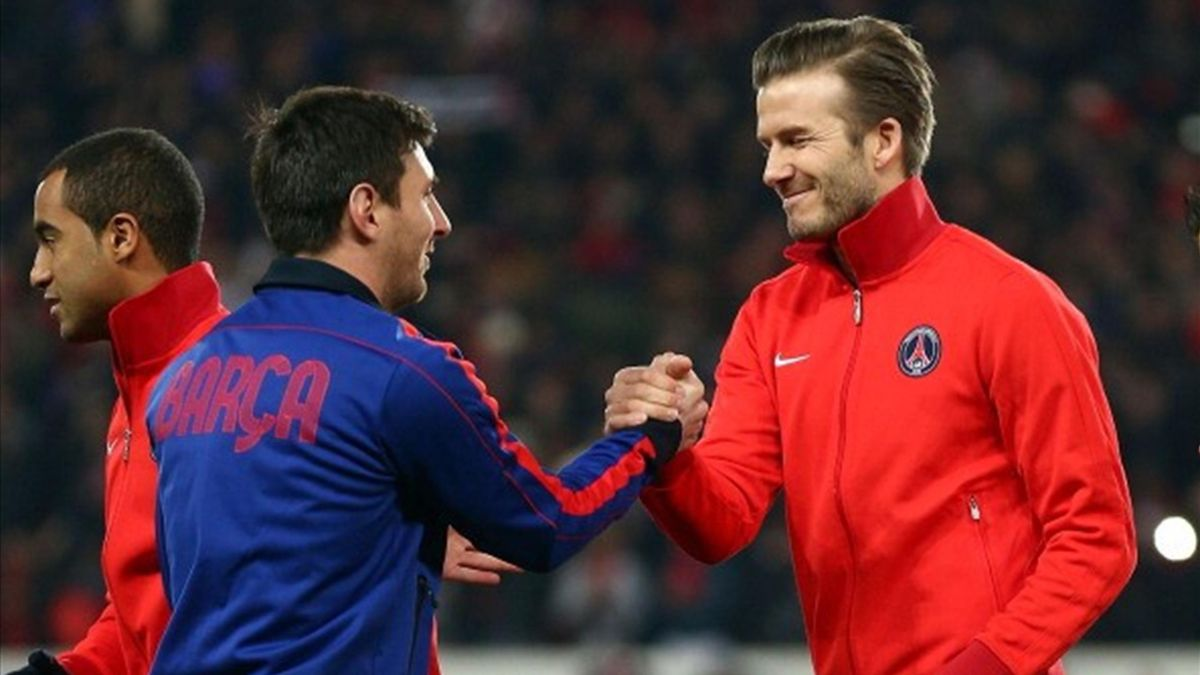 David Beckham and Leo Messi
