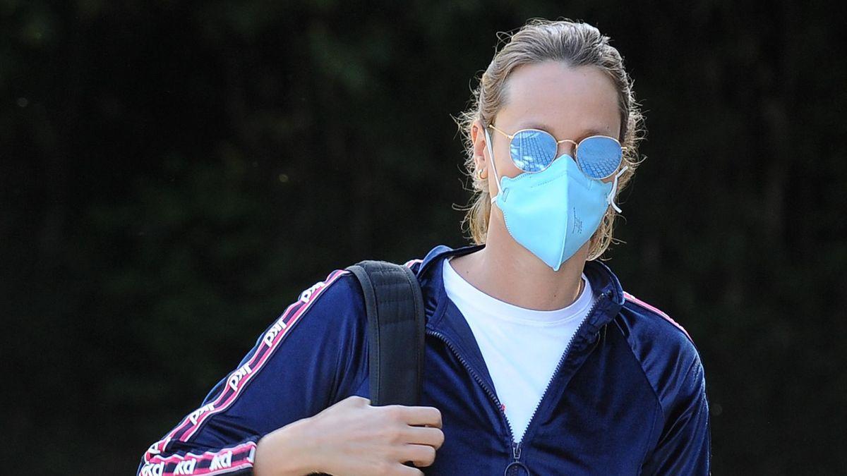Federica Pellegrini con la mascherina