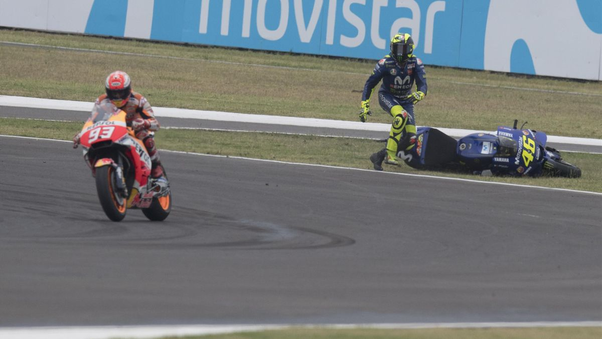 Marc Marquez, Valentino Rossi, Argentina GP, Getty Images