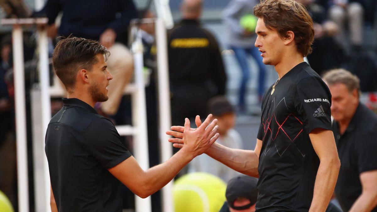 Dominic Thiem (l.) und Alexander Zverev (r.)
