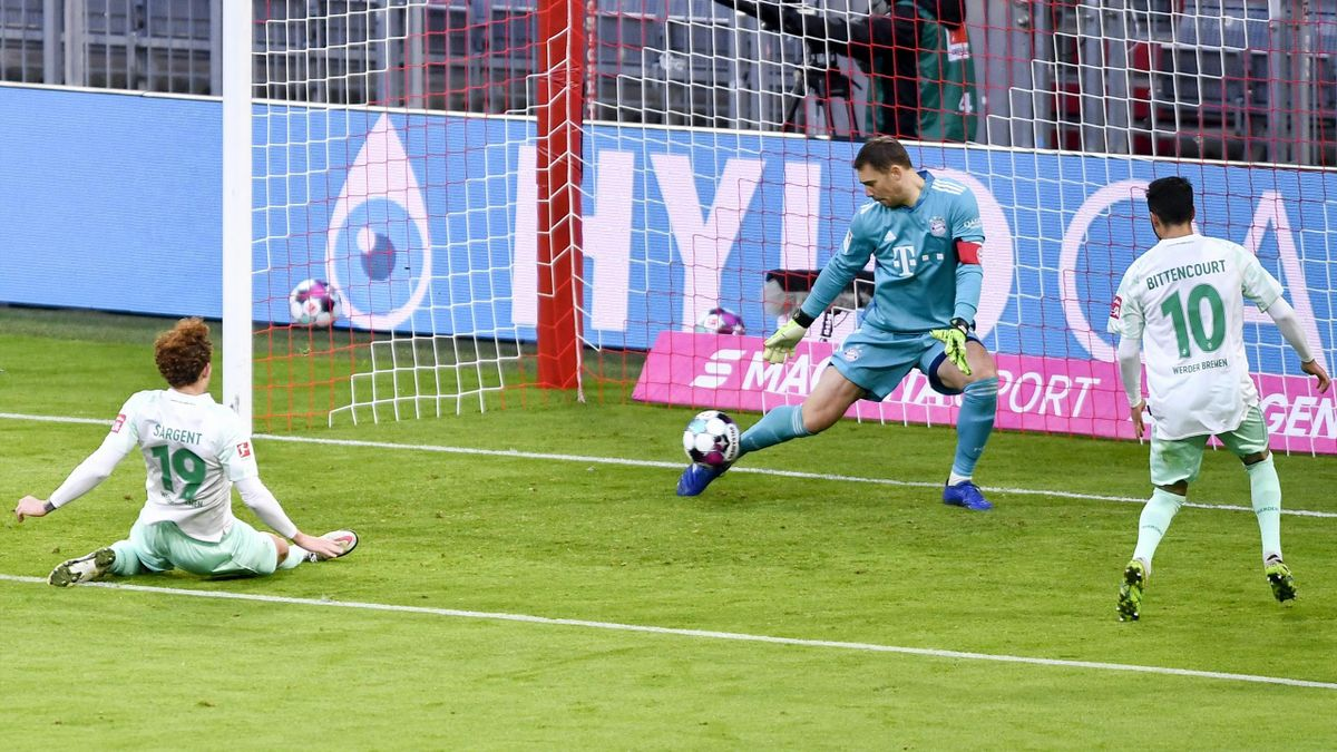 Bayern Munich held by Werder Bremen in 1-1 draw at Allianz Arena - Eurosport
