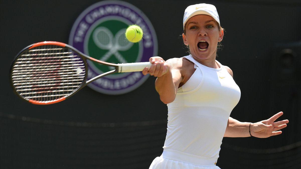 Simona Halep face à Hsieh Su-Wei - Wimbledon 2018