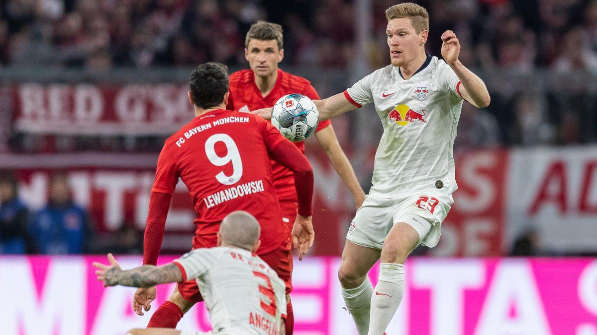 Macrel Halstenberg (rechts) will mit RB Leipzig den FC Bayern München herausfordern