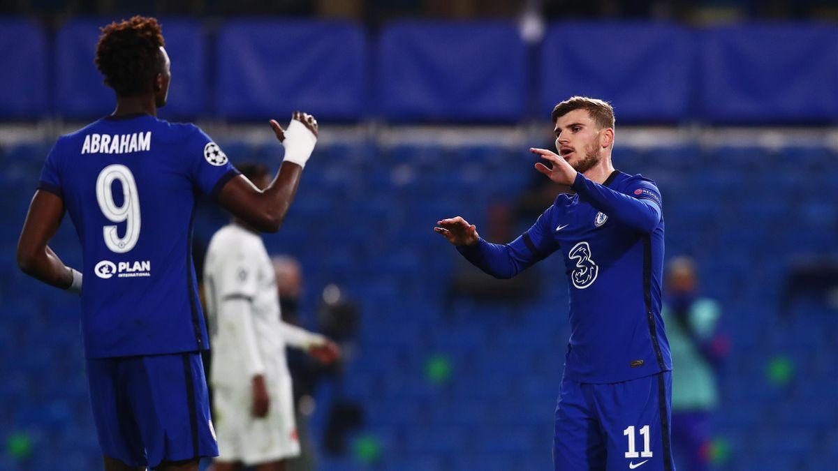 Abraham e Werner festeggiano la vittoria contro il Rennes