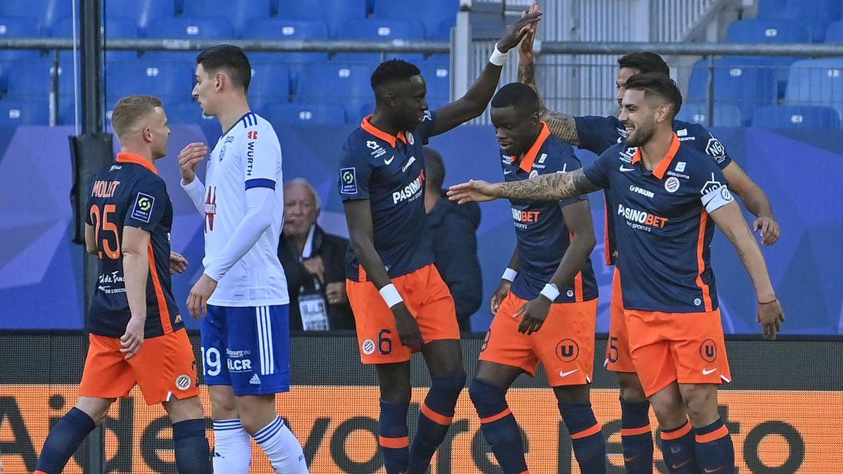Montpellier peut jubiler après le but d'Andy Delort contre Strasbourg en Ligue 1