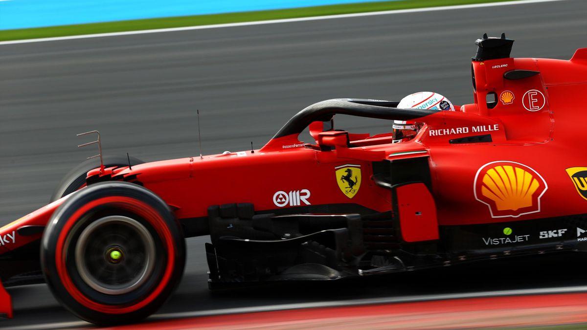 Charles Leclerc (Ferrari) lors de la séance de qualifications au GP de Turquie 2021