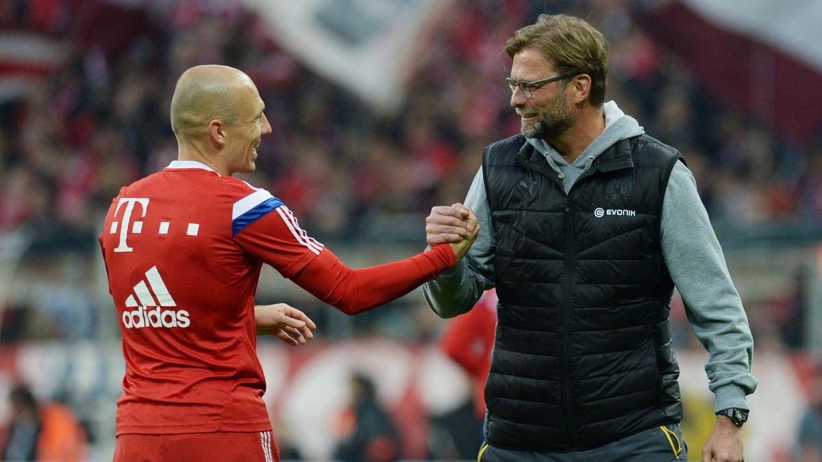 Arjen Robben mit Jürgen Klopp