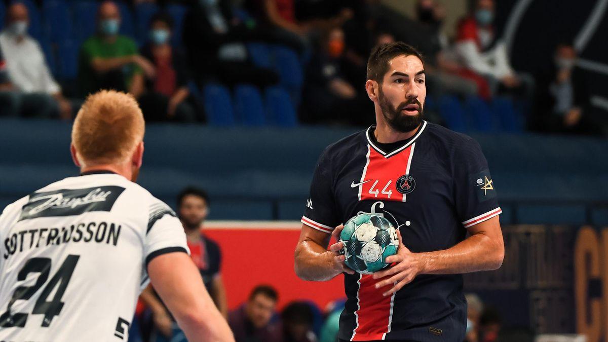 Nikola Karabatic lors de PSG-Flensburg en Ligue des champions