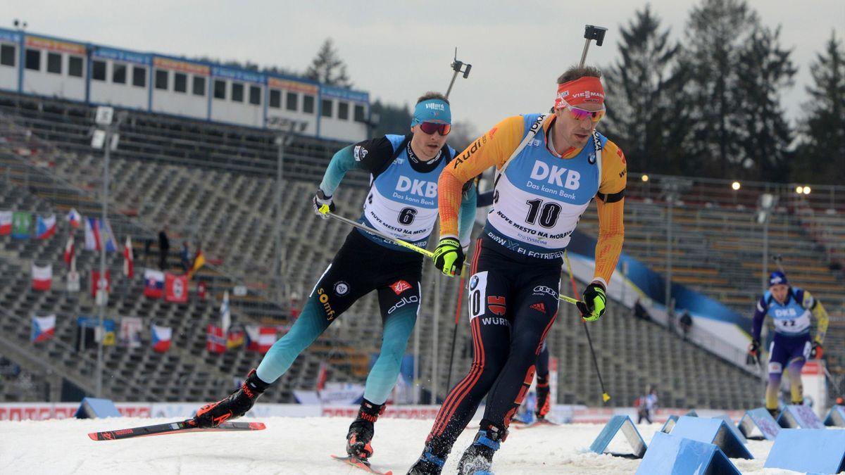 Arnd Peiffer beim Biathlon-Weltcup in Nové Mesto na Morave 2020