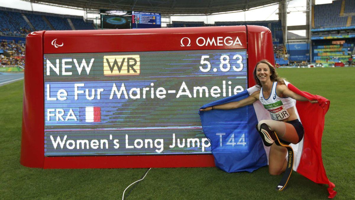 Marie-Amélie Le Fur au Jeux Paralympiques en 2016.