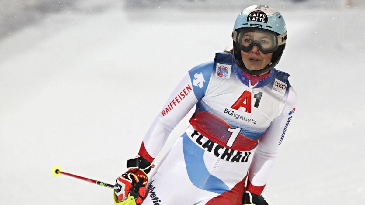 Wendy Holdener könnte in Cortina d'Ampezzo ihr drittes Kombinations-Gold bei einer WM in Folge holen