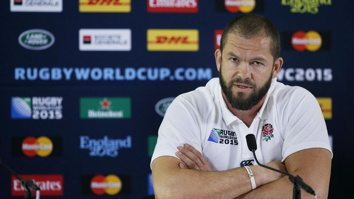 England backs coach Andy Farrell during the press conference