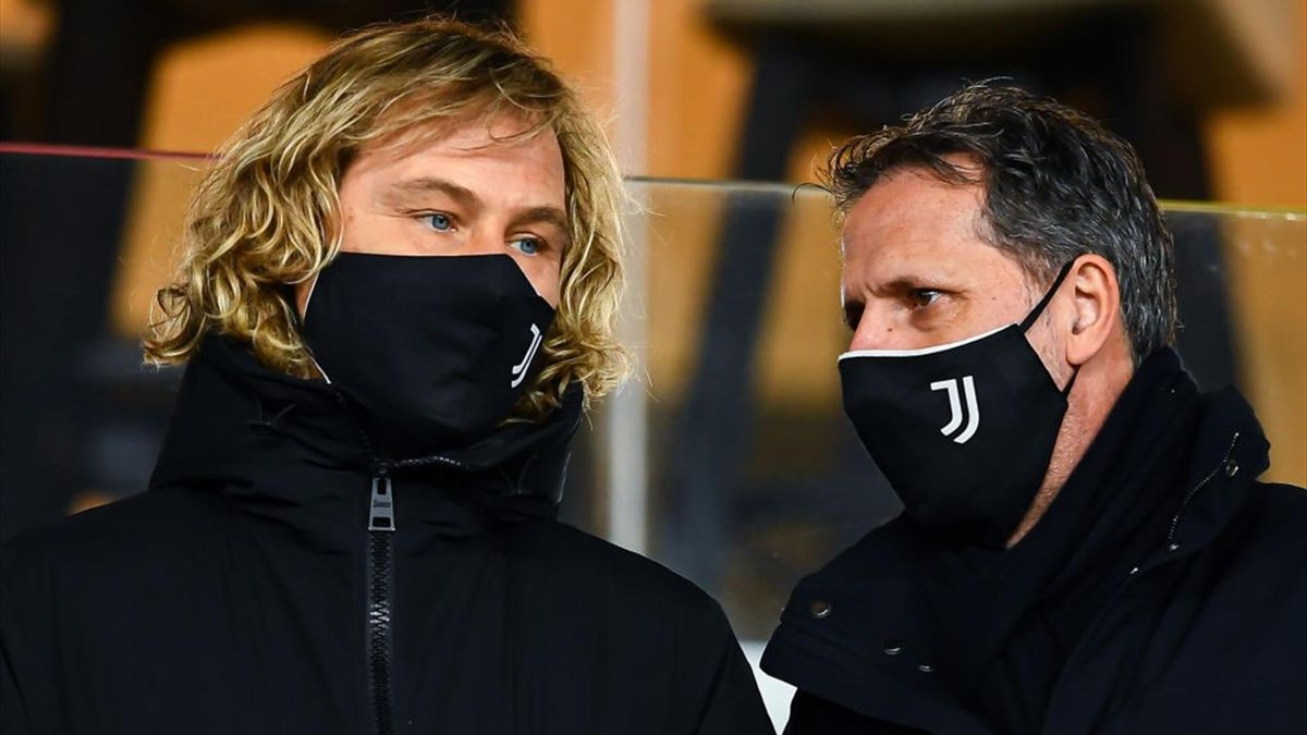 Nedved, Paratici - Genoa-Juventus - Serie A 2020/2021 - Getty Images