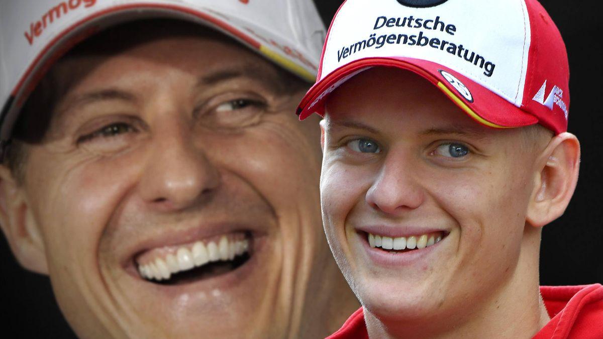 Mick Schumacher (rechts) tritt 2021 in die Fußstapfen von Vater Michael