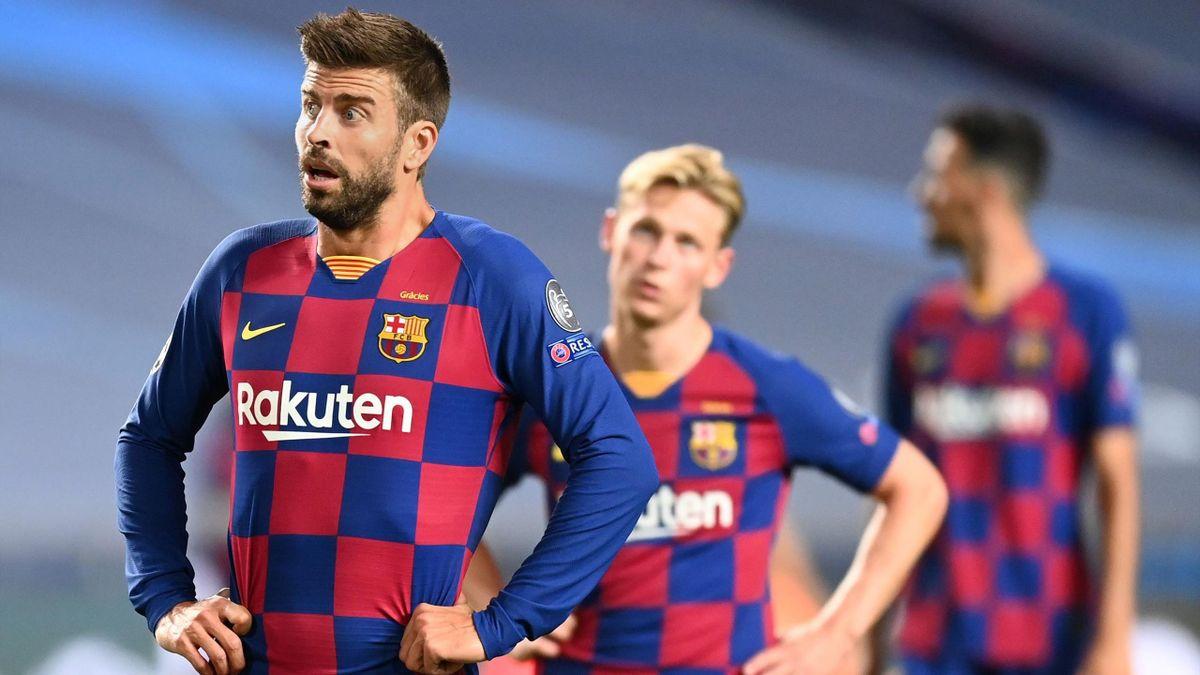 Barcelona nach dem Spiel gegen Bayern