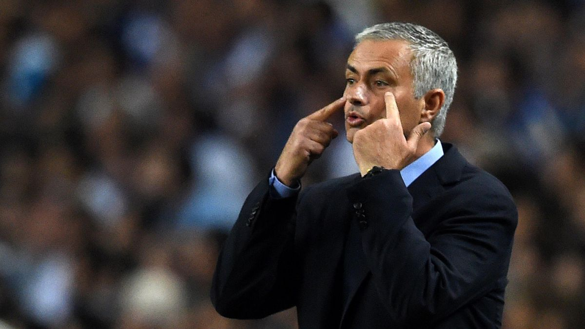Jose Mourinho shouts at his players as Chelsea lose again