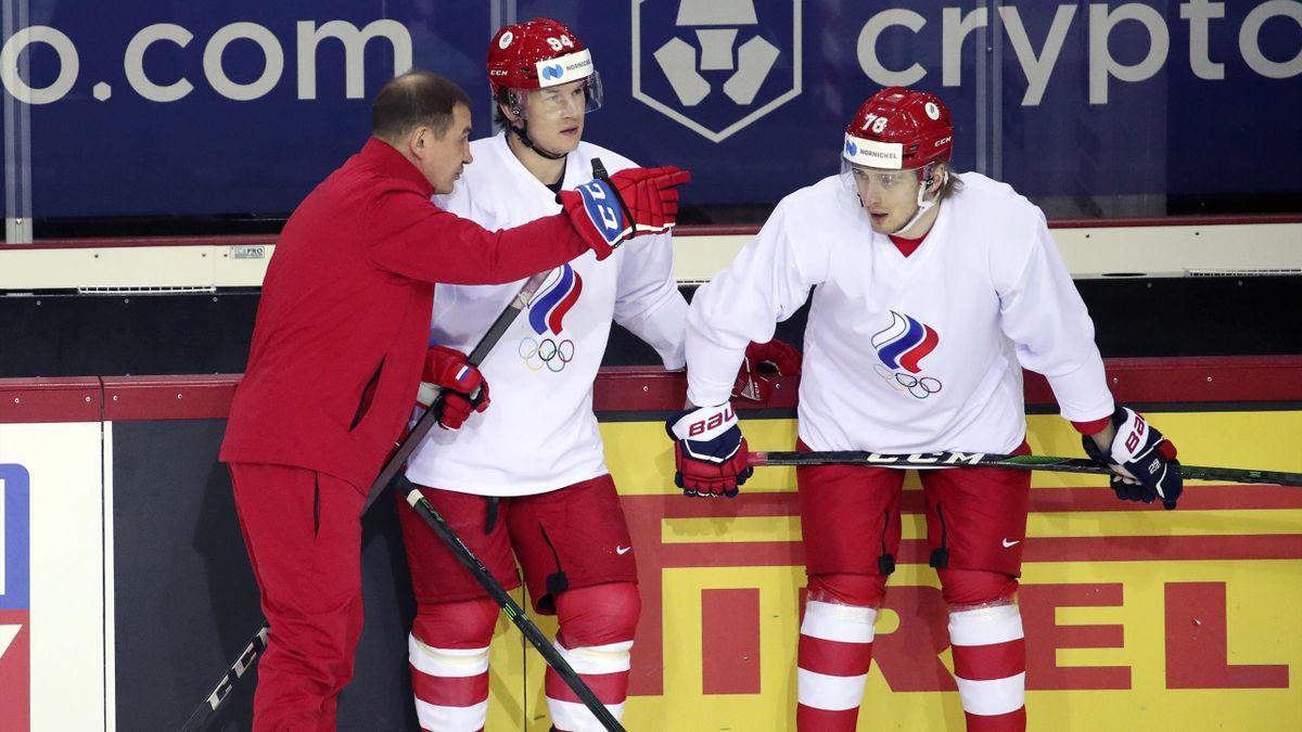 Валерий Брагин, Александр Барабанов и Максим Шалунов, сборная России