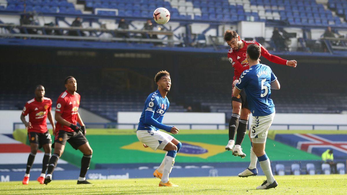 Bruno Fernandes buteur avec Manchester United face à Everton en Premier League