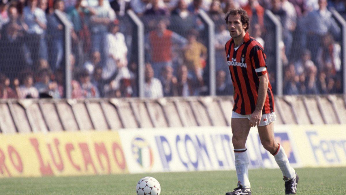 Franco Baresi Milan 1990 LaPresse
