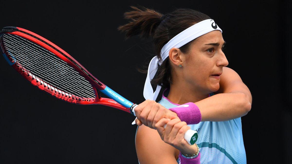 Caroline Garcia lors du Gippsland Trophy à Melbourne en 2021