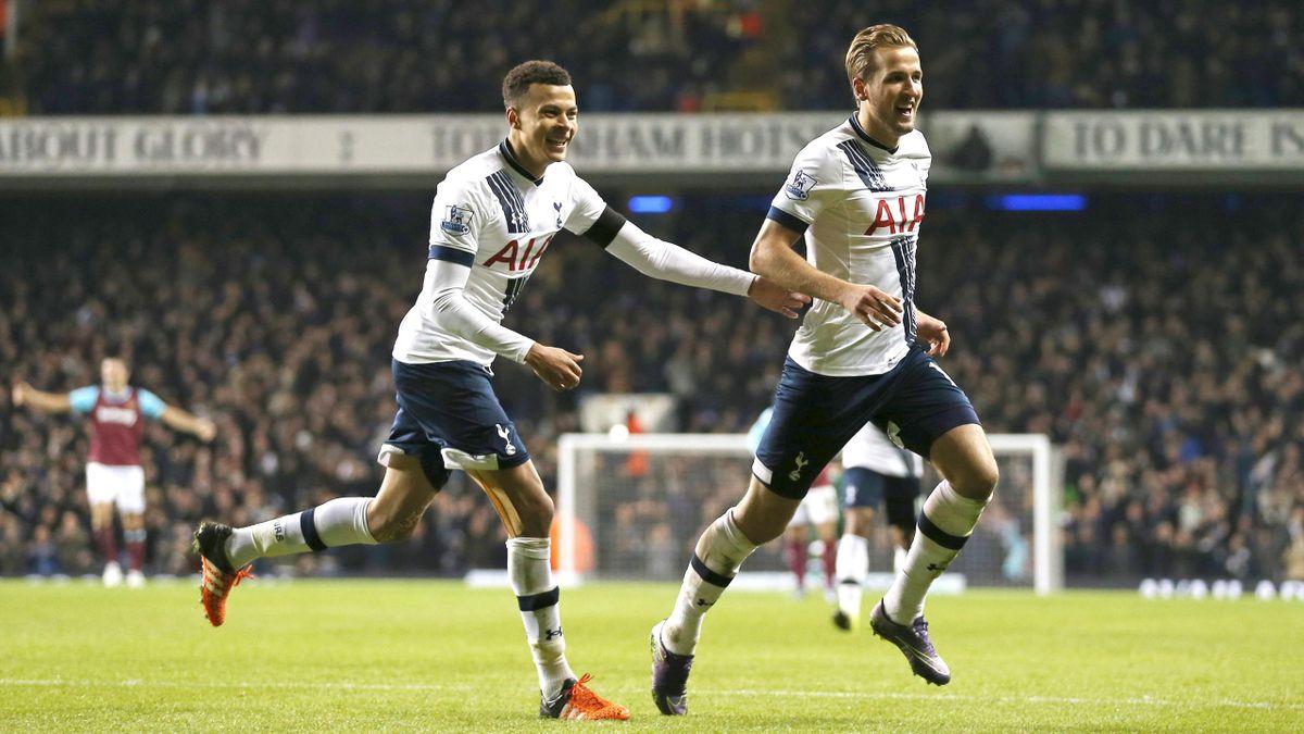 Tottenham's Dele Alli and Harry Kane celebrate