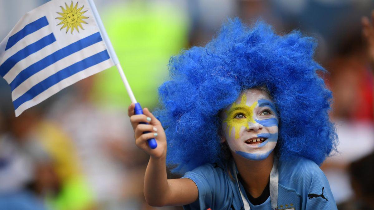 Die Fans von Uruguay gehören zu den Farbenfrohsten bei der WM