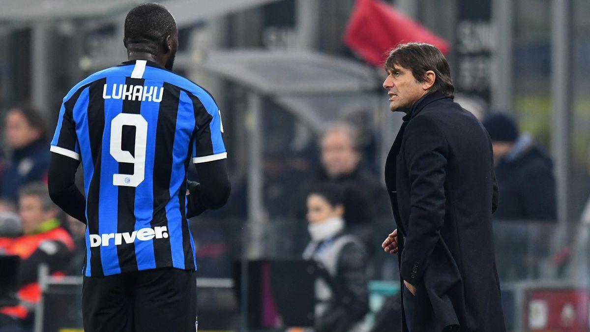 Antonio Conte, Romelu Lukaku - Inter-Cagliari - Coppa Italia 2019/2020 - Getty Images