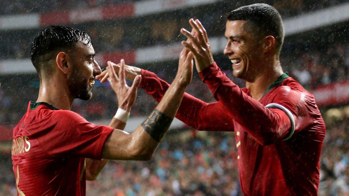 Cristiano Ronaldo și Bruno Fernandes sunt colegi la naționala Portugaliei