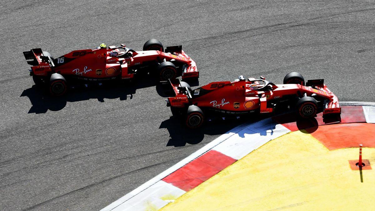 Sebastian Vettel, Charles Leclerc (Ferrari) - GP Russland 2019