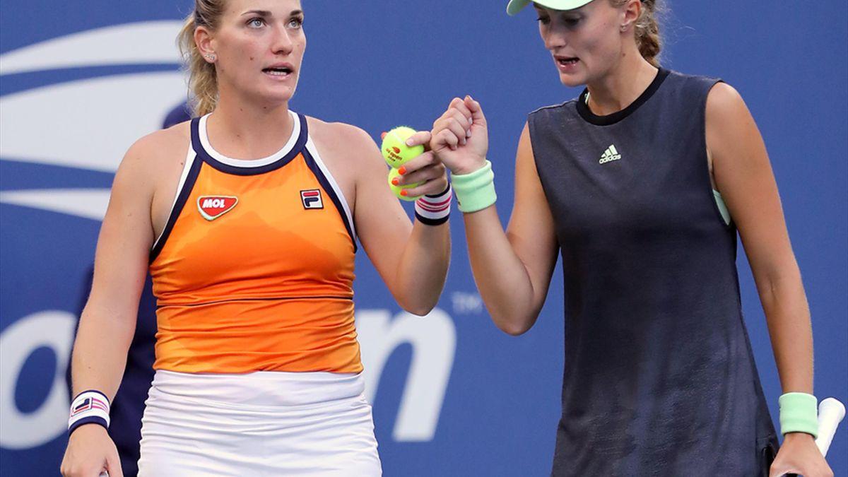 Timea Babos și Kristina Mladenovic nu au fost lăsate să joace în turul doi la US Open 2020