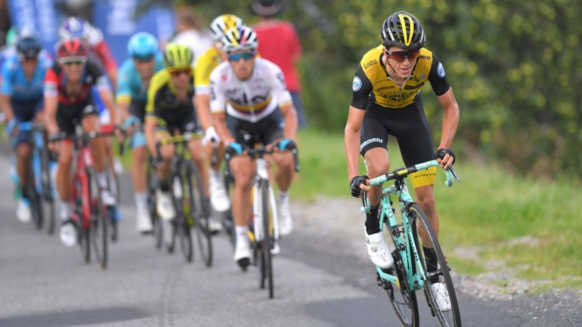 BUKOVINA RESORT, POLAND - AUGUST 09: George Bennett of New Zealand and Team Lotto Nl - Jumbo / during the 75th Tour of Poland 2018, Stage 6 a 129,3km stage from Zakopane to Bukovina Resort on August 9, 2018 in Bukovina Resort, Poland. (Photo by Tim de Wae