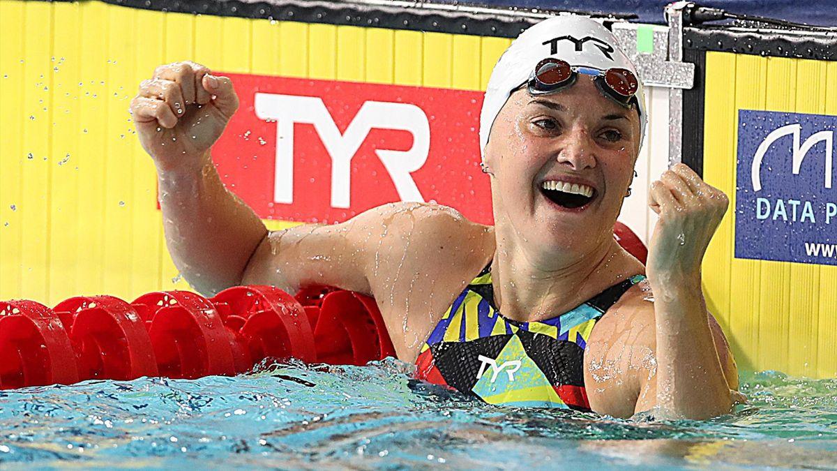 Melanie Henique lors des Championnats d'Europe 2019, à Glasgow