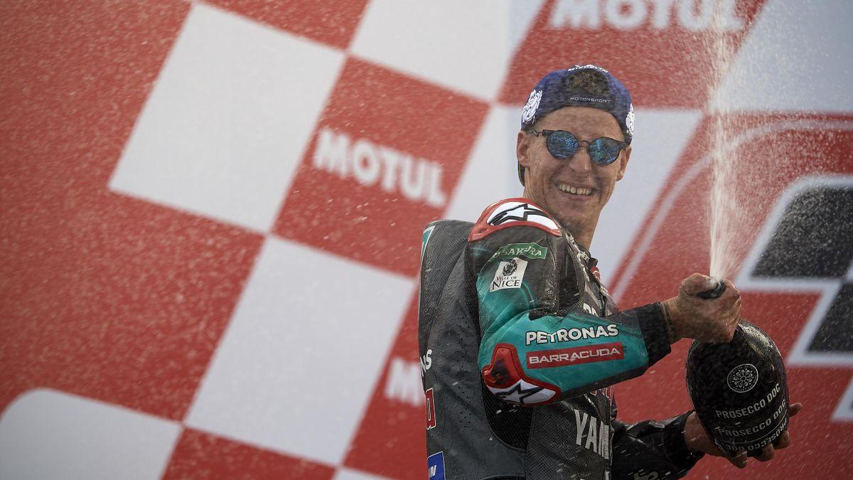 Fabio Quartararo (Yamaha Petronas SRT) lors du Grand Prix de Valence 2019