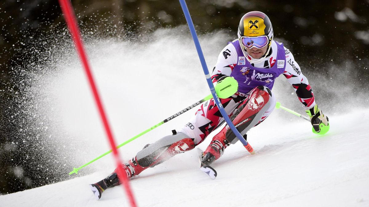 Marcel Hirscher sur le slalom de Santa Catarina en Coupe  du monde 2015-2016