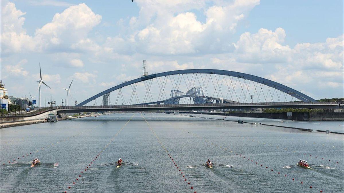 Les épreuves olympiques d'aviron se déroulent à Tokyo.