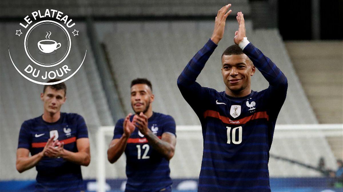 Kylian Mbappé, buteur lors du festival offensif des Bleus face à l'Ukraine au stade de France le 7 octobre 2020