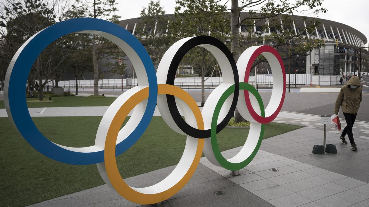 Olympische Ringe in Tokio