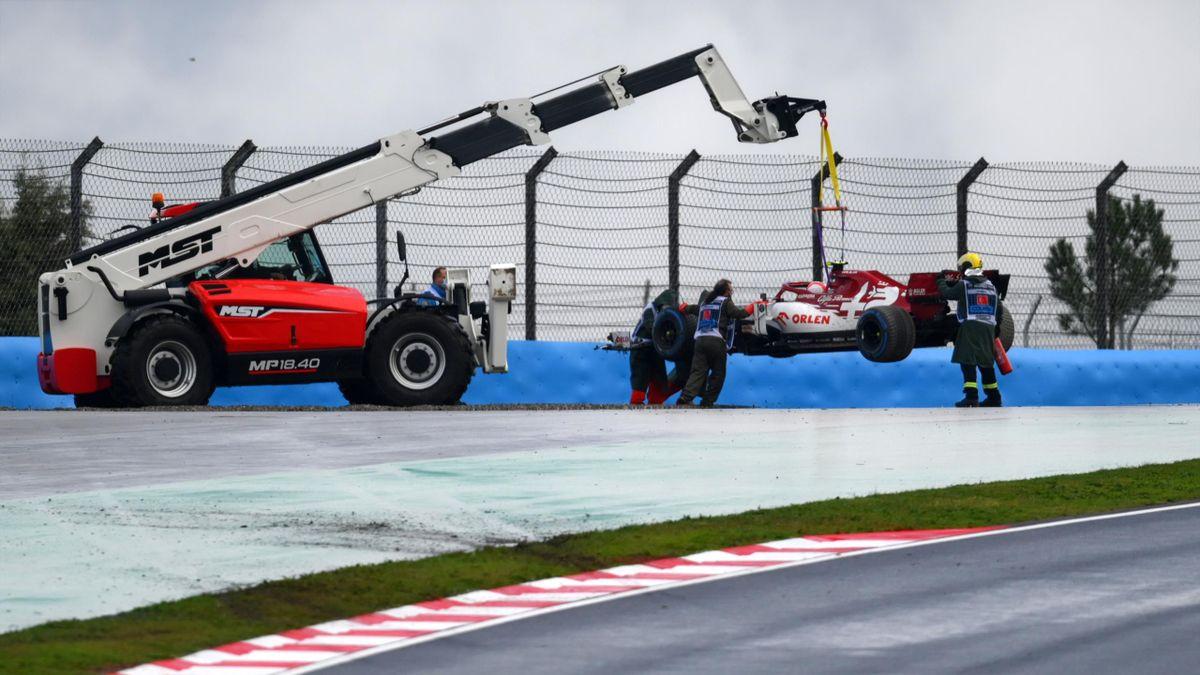 Antonio Giovinazzi (Alfa Romeo) avant le Grand Prix de Turquie, le 15 novembre 2020