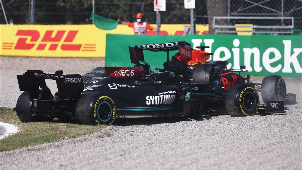 Lewis Hamilton (Mercedes), Max Verstappen (Red Bull) au Grand Prix d'Italie 2021