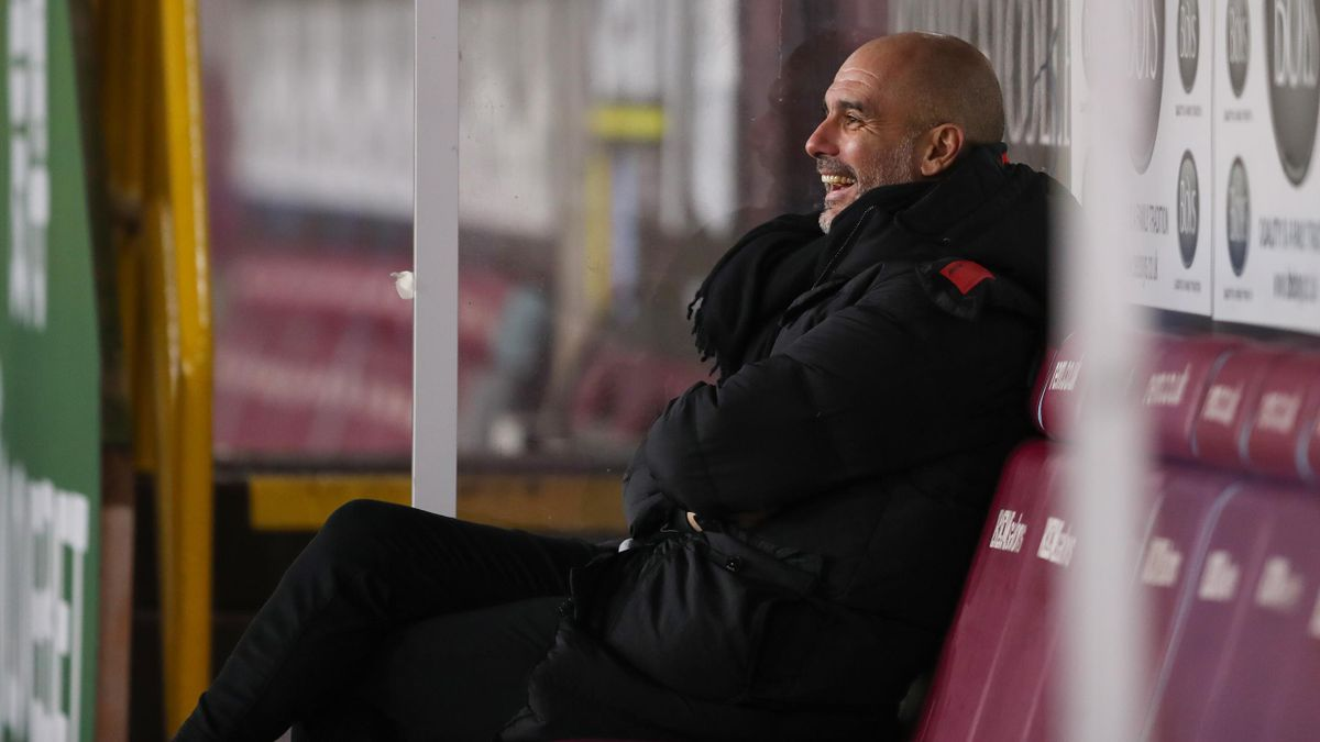 Just Pep Guardiola having a giggle