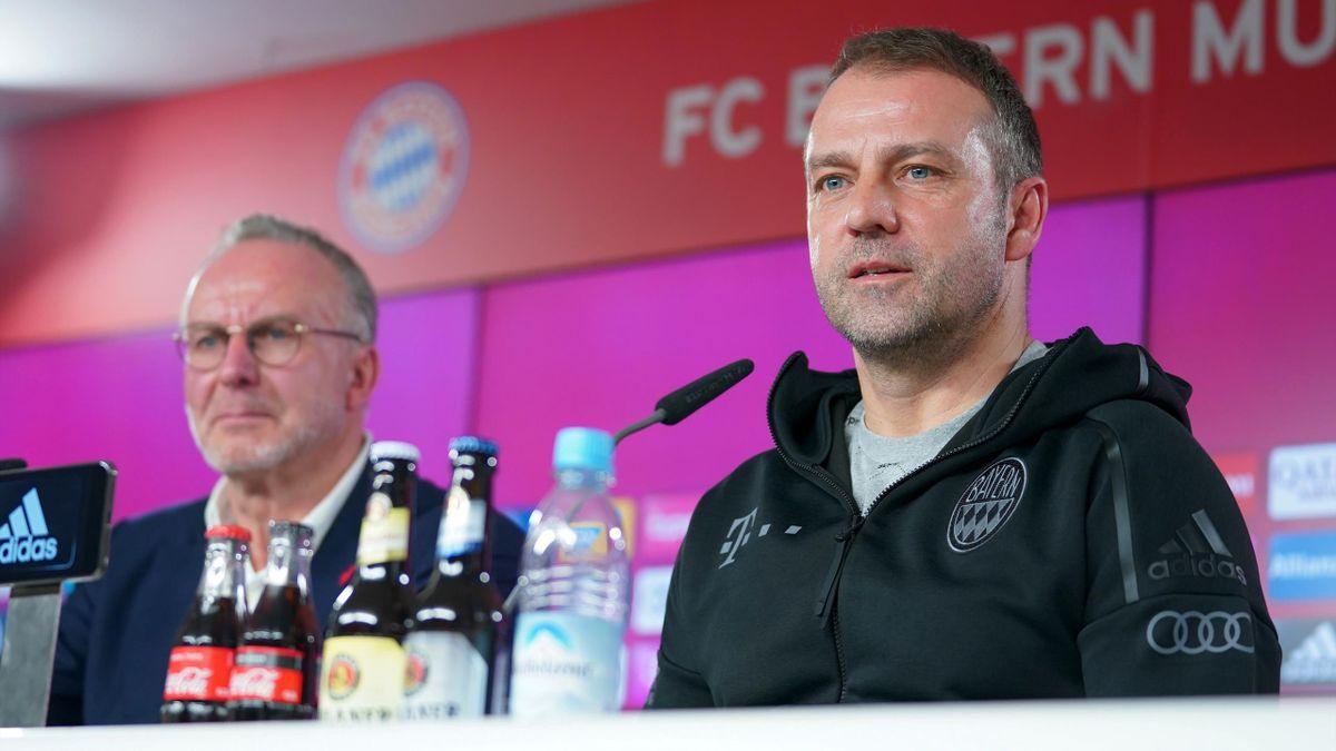 Karl-Heinz Rummenigge (links) und Hansi Flick (rechts)