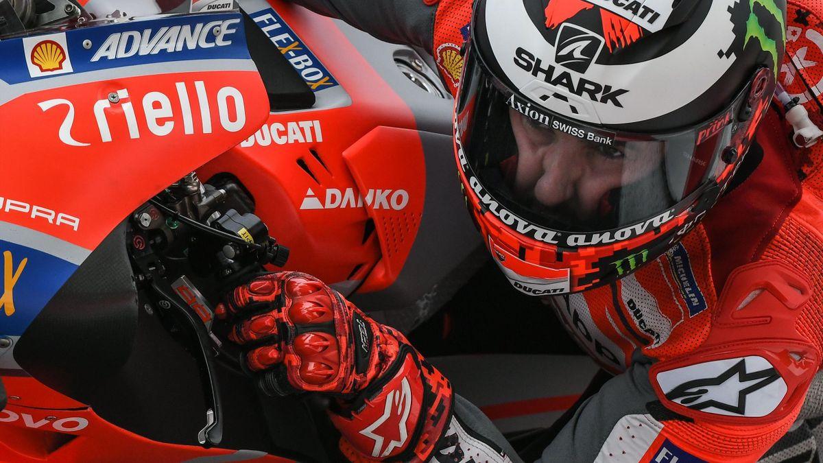 Jorge Lorenzo (Ducati Team) lors des essais libres du Grand Prix de Malaisie 2018